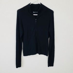 Zara Knit Zip-Up Cardigan